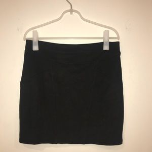 Express faux suede mini skirt